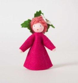 Roemeense Vingerpopjes Framboos (Raspberry) met bloem in de hand