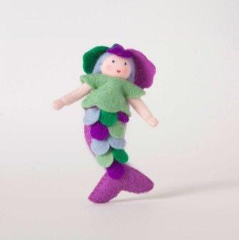 Roemeense Vingerpopjes Zeemeermin popje van vilt
