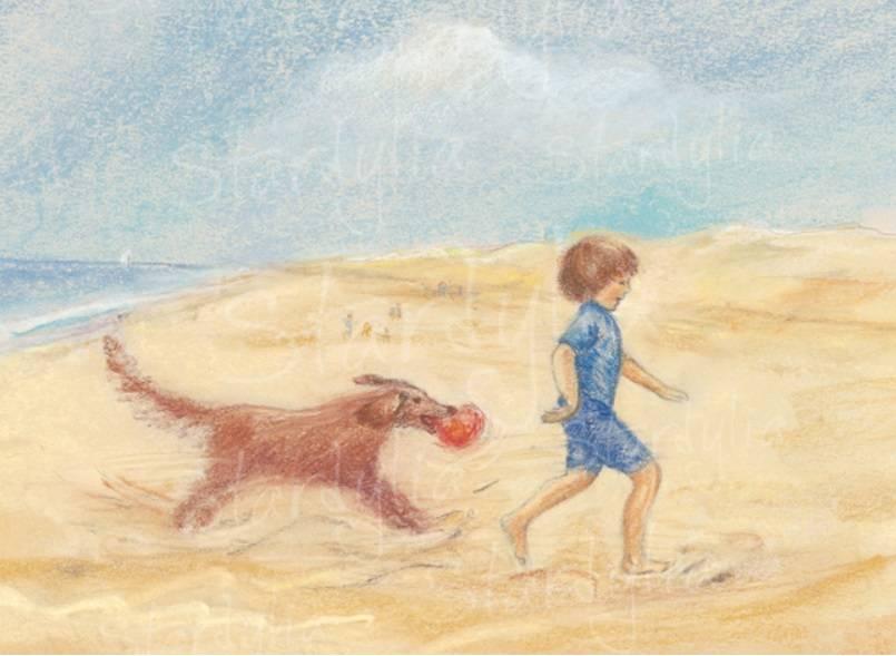 Marjan van Zeyl, Hond met bal  (353)