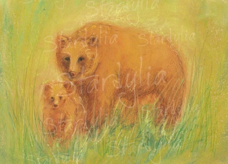 Marjan van Zeyl, Beer met jonge beer (356)