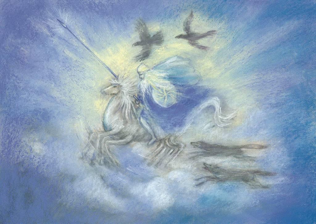 Marjan van Zeyl, Odin op zijn paard Sleipnir (467)