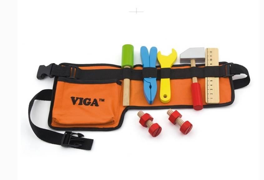 Gereedschapsriem 10-delig Viga Toys 50532