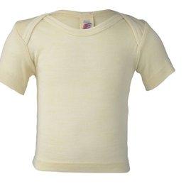 Engel Natur Babyhemdje Wol/zijde korte mouw amerikaanse sluiting Engel 70 7500