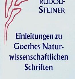 Rudolf Steiner, GA 1 Einleitungen zu Goethes Naturwissenschftlichen Schriften