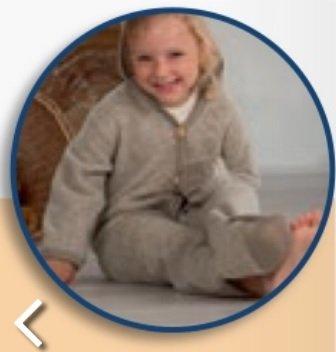 Cosilana Babyoverall Cosilana Wol/katoenen fleece 48918