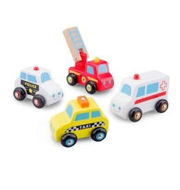 NCT Set Auto's 4 stuks (Politie, Ambulance, Brandweer, taxi) NC11930