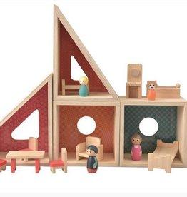Houten Poppenhuis met accessoires ET511063