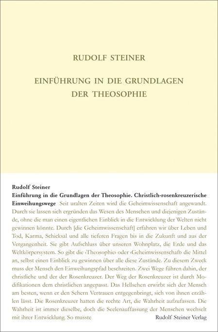 Rudolf Steiner, GA 111 Einführung in die Grundlagen der Theosophie