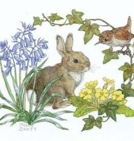 Medici Molly Brett, Rabbit and wren with bluebells and primroses  PCE 224