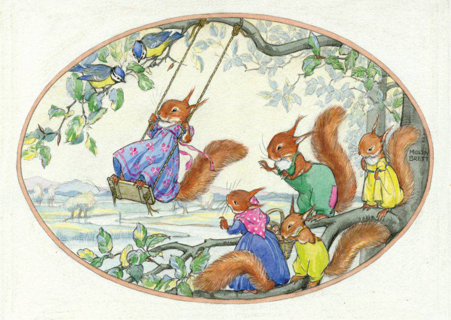 Medici Molly Brett, Squirrels playing on a swing PCE 239