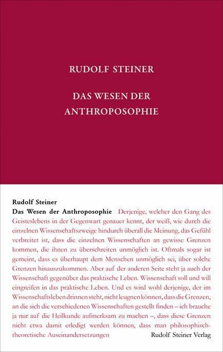 Rudolf Steiner, GA 80a Das Wesen der Anthroposphie