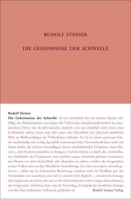 Rudolf Steiner, GA 147 Die Geheimnisse der Schwelle