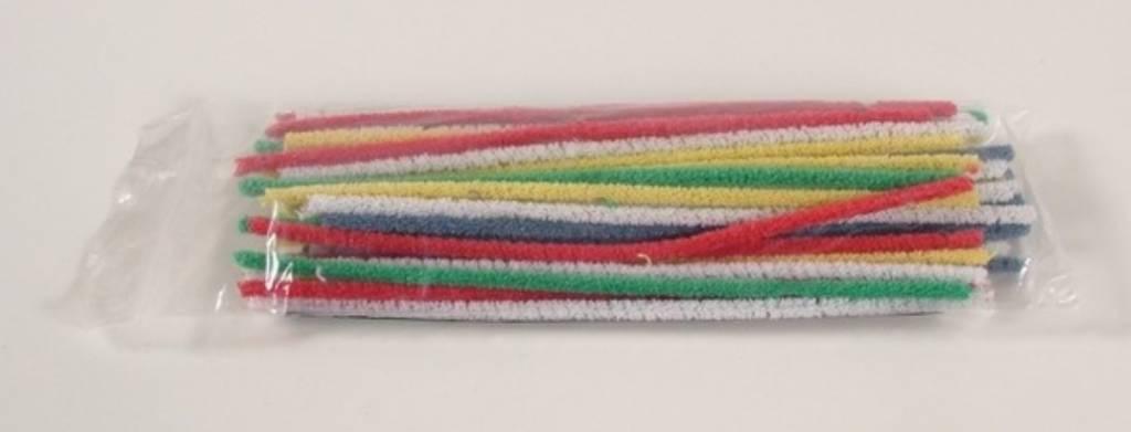 Pijpenragers gekleurd 17,7 cm zakje 50 stuks