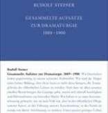 Rudolf Steiner, GA 29 Gesammelte Aufsätze zur Dramaturgie 1889-1900