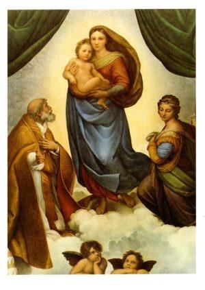 Rafaël, Sixtijnse Madonna compleet Raf 0109