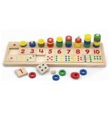 Tel-sorteerspel Match de getallen Viga Toys