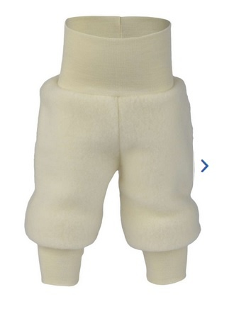 Engel Natur Engel Natur Baby Broek met tailleband Wol Fleece - Naturel (01)