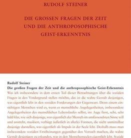 Rudolf Steiner, GA 336 Die grossen Fragen der Zeit und die anthroposophische Geisterkenntnis