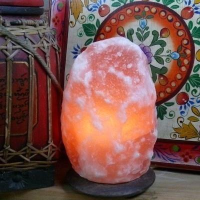 Zoutlamp 2,5 kg. incl. fitting en lampje