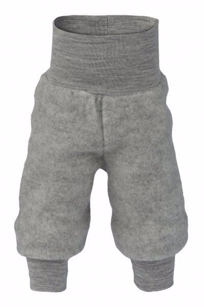 Engel Natur Engel Natur Baby Broek met tailleband Wol Fleece - Licht grijs melange (091)