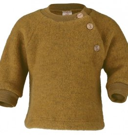 Engel Natur Engel Natur Raglan sweater Wol Fleece met knoopjes - Safraan melange (018E)