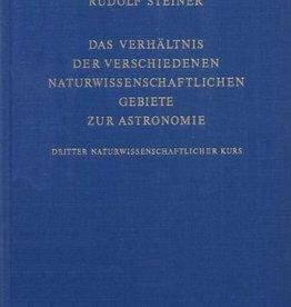 Rudolf Steiner, GA 323 Das Verhältnis der verschiedenen naturwissenschaftliche Gebiete zur Astronomie. Dritter naturwissenschaftlicher Kurs