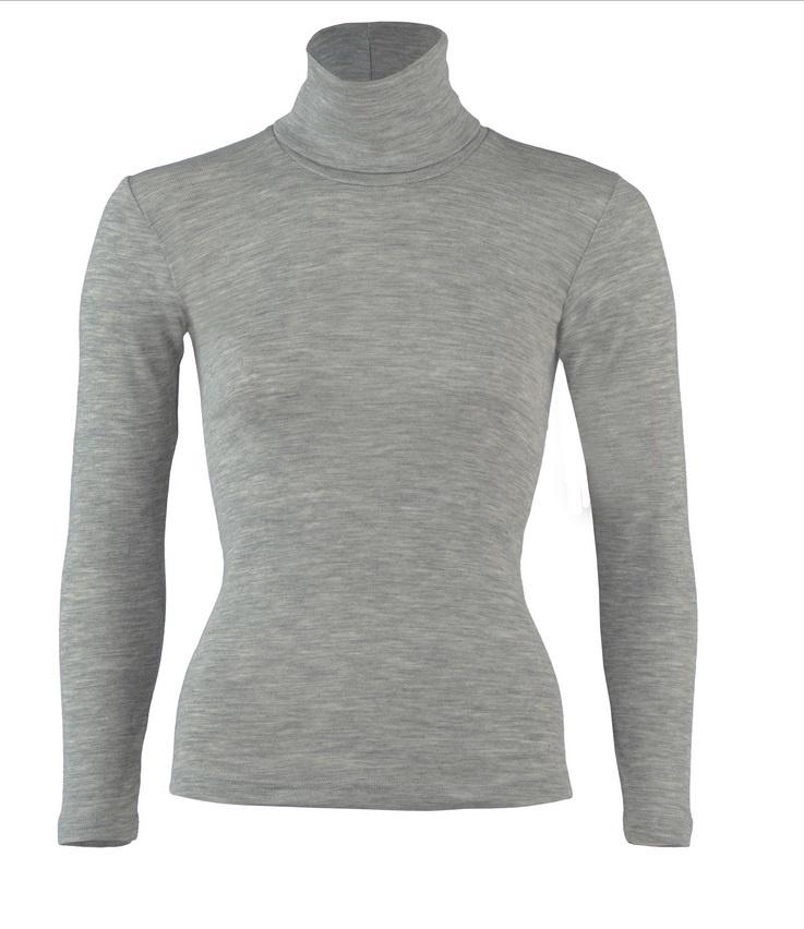 Engel Natur Engel Dames Shirt met col wol/zijde lange mouw