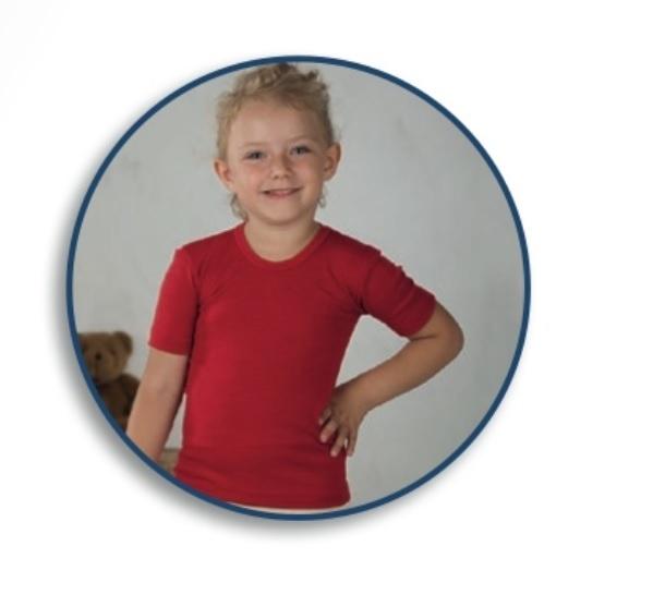 Cosilana Kinderhemd korte mouw wol/zijde Cosilana 71232