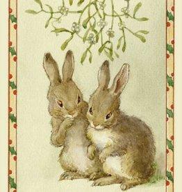 Margaret Tarrant, Shall us? Two rabbits under the mistletoe PCE 196