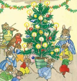 Molly Brett, A family of mice playing around the christmas tree PCE 182