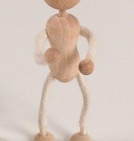 Touwpopje met hoofd 12 cm