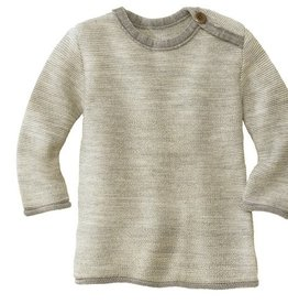 Disana Disana merino wollen trui - Natural/Grey (911)