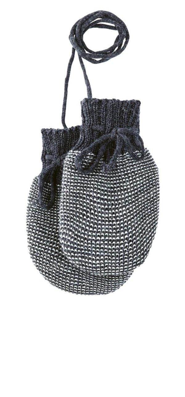 Disana Disana baby wantjes - Anthracite/Grey (991)