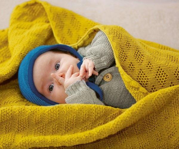 Disana Disana Wollen Omslagdoek en Babydeken - Grijs (121)