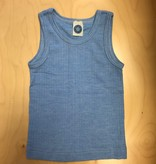 Cosilana Cosilana Wol/Zijde/Katoen hemd - Blauw melange (06)
