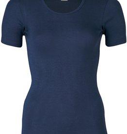 Engel Natur Engel Natur Wol/Zijde Dames shirt korte mouw - Marine (33)