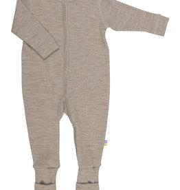 JOHA Joha Pyjama Wol met voet omslag - Sesam (15587)
