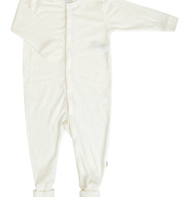 JOHA Joha Jumpsuit Wol met voet omslag - Ecru (50)