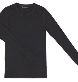 Johansen Johansen Shirt Merinowol met lange mouw - Zwart (311) Collectie Christopher