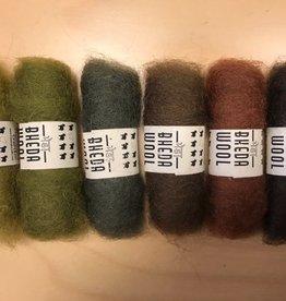 Bheda wool Bhedawol Set - Mini 6 stuks 2 gr. - Groen/Bruin