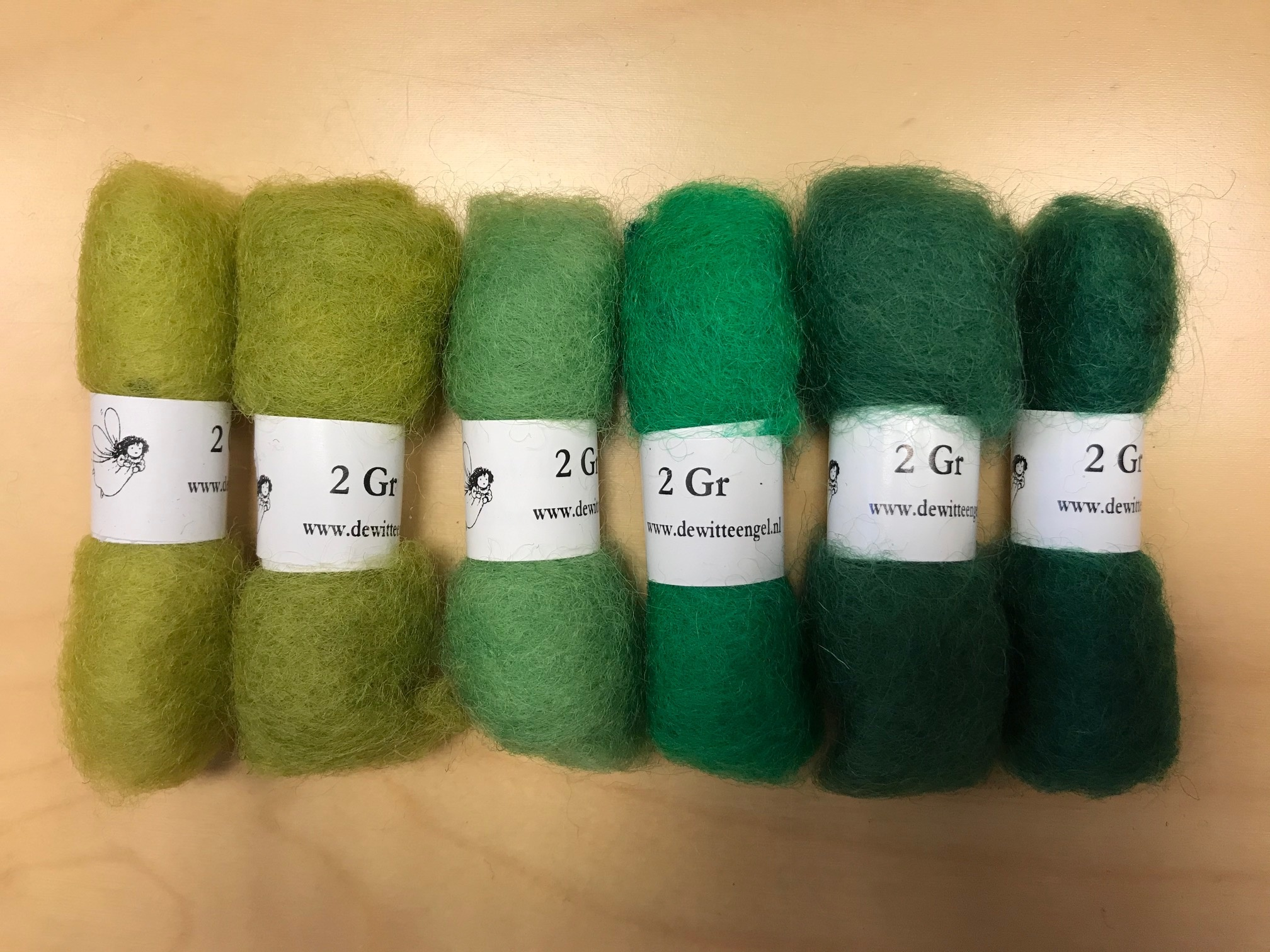 Bheda wool Bhedawol Set - Mini 6 stuks 2 gr. - Groen
