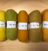 Bheda wool Bhedawol Set - 5 stuks van  25 gr. - Geel