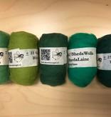Bheda wool Bhedawol Set - 5 stuks van  25 gr. - Groen