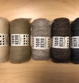 Bheda wool Bhedawol Set - 5 stuks van  25 gr. - Groen/Bruin - CopyBhedawol Set - 5 stuks van  25 gr. - Wit/Grijs