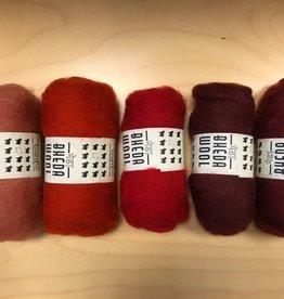 Bheda wool Bhedawol Set - 5 stuks van  25 gr. - Oranje/Rood