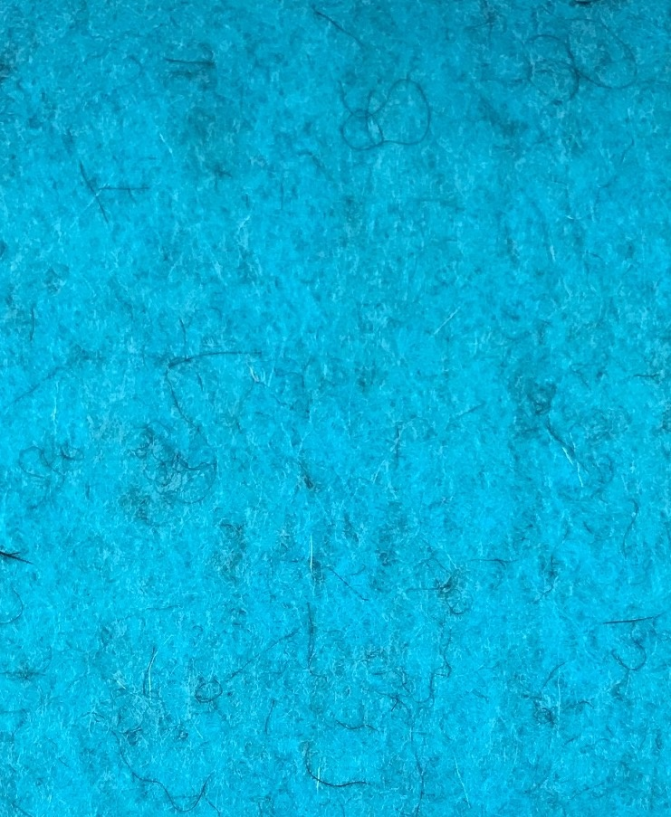 De Witte Engel De Witte Engel - gemarmerd Vilt - Turquoise 20x30cm