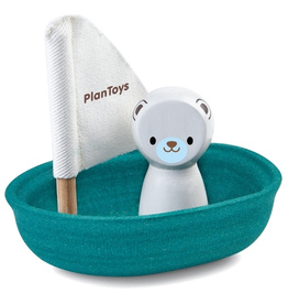 Plantoys PlanToys Sailing boat - Polar bear 12m+