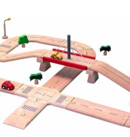 Plantoys PlanToys Roadsystem (Deluxe) Wegenset 3y+