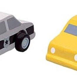 Plantoys PlanToys City Taxi & Police Car 3y+