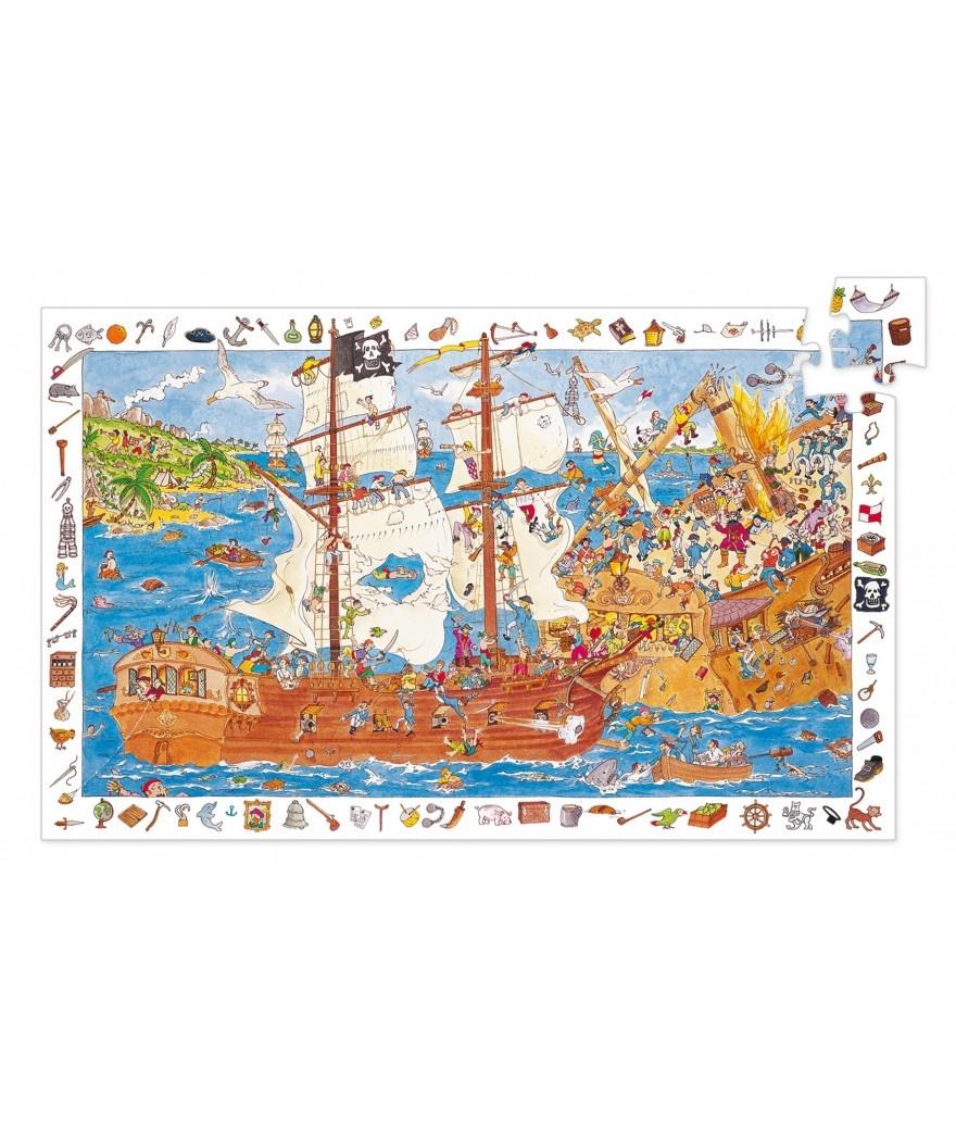 Djeco Djeco Observatiepuzzel - Piraten 100pcs 5y+